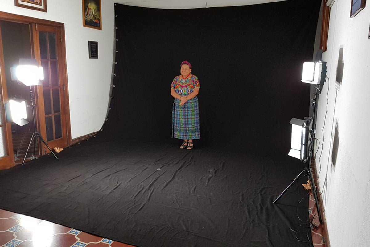 Making Of mit Rigoberta Menchu in Guatemala
