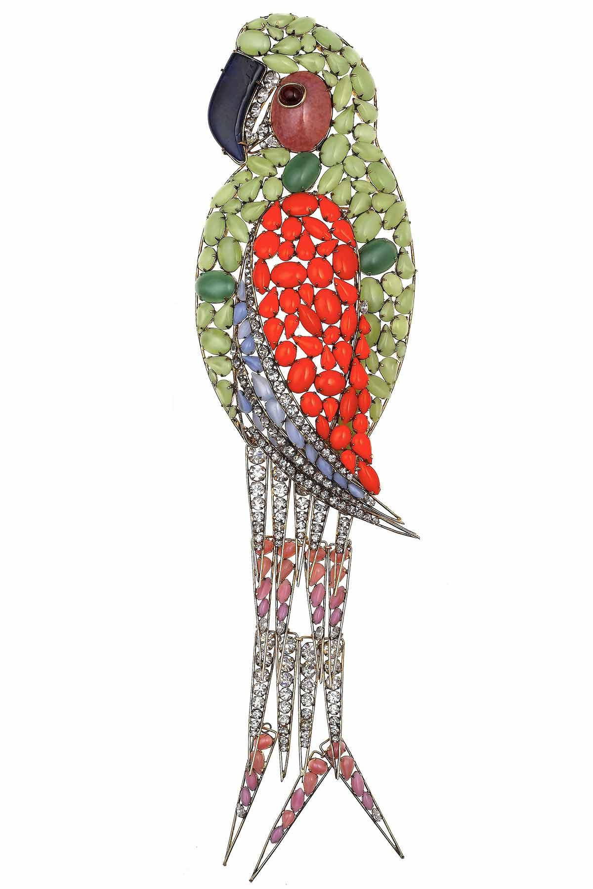 Parrot brooch, Iradji Moini for Oscar de la Renta, 1985-1990 ©Swarovski Corporate Archive