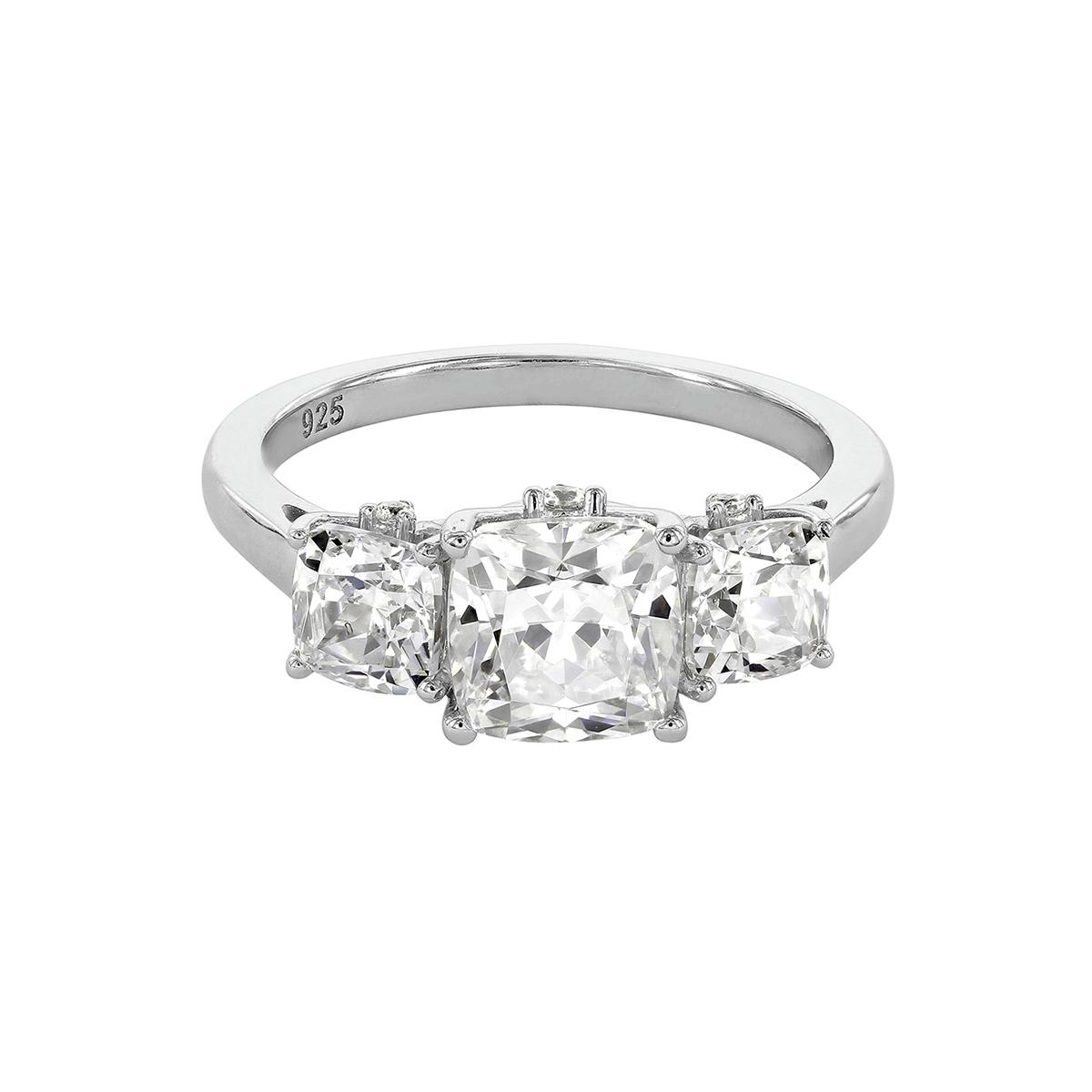 f2fb27b3f Rings Myia Passiello Timeless Platinum-Plated Swarovski Zirconia Ring